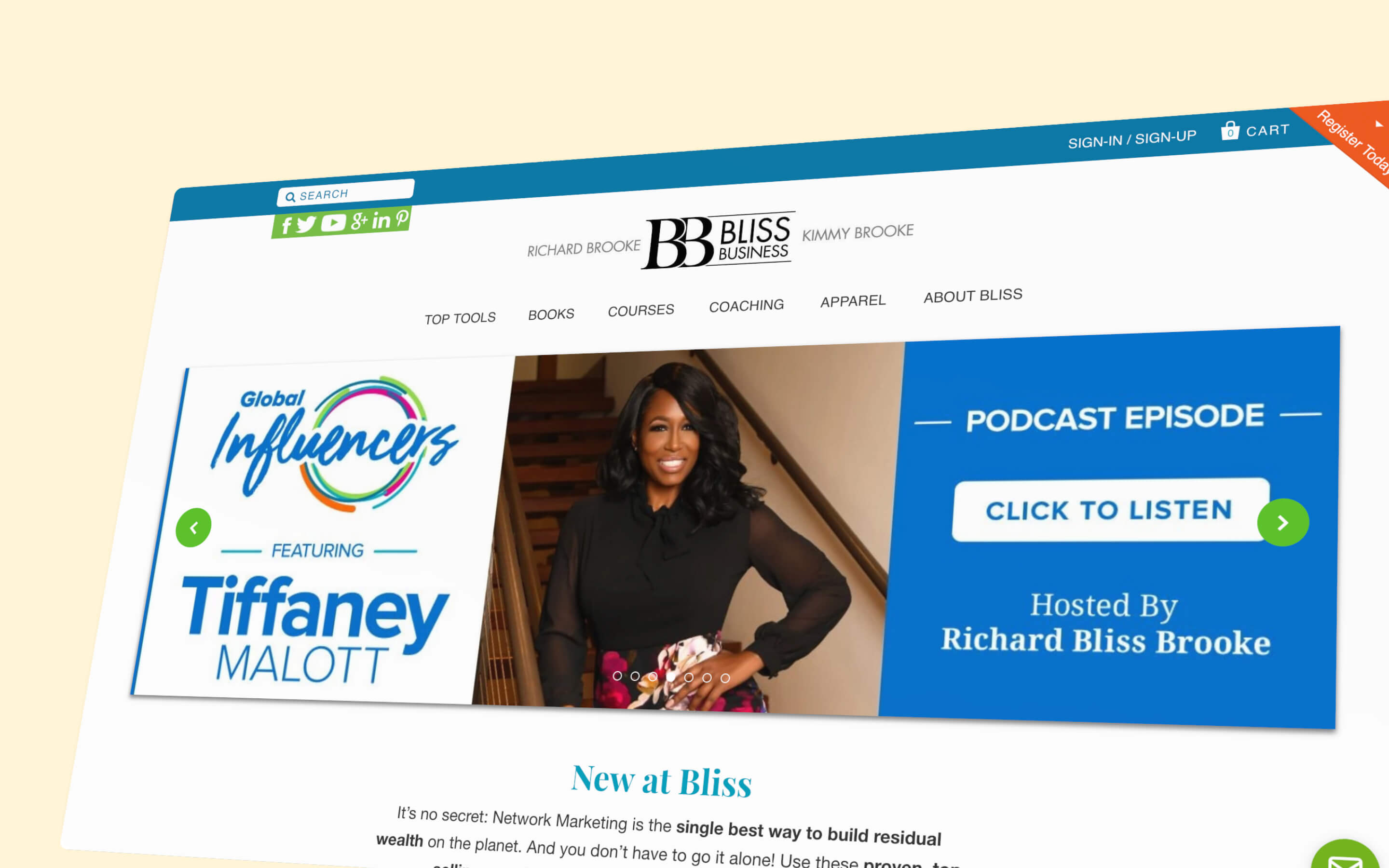 Bliss Business homepage