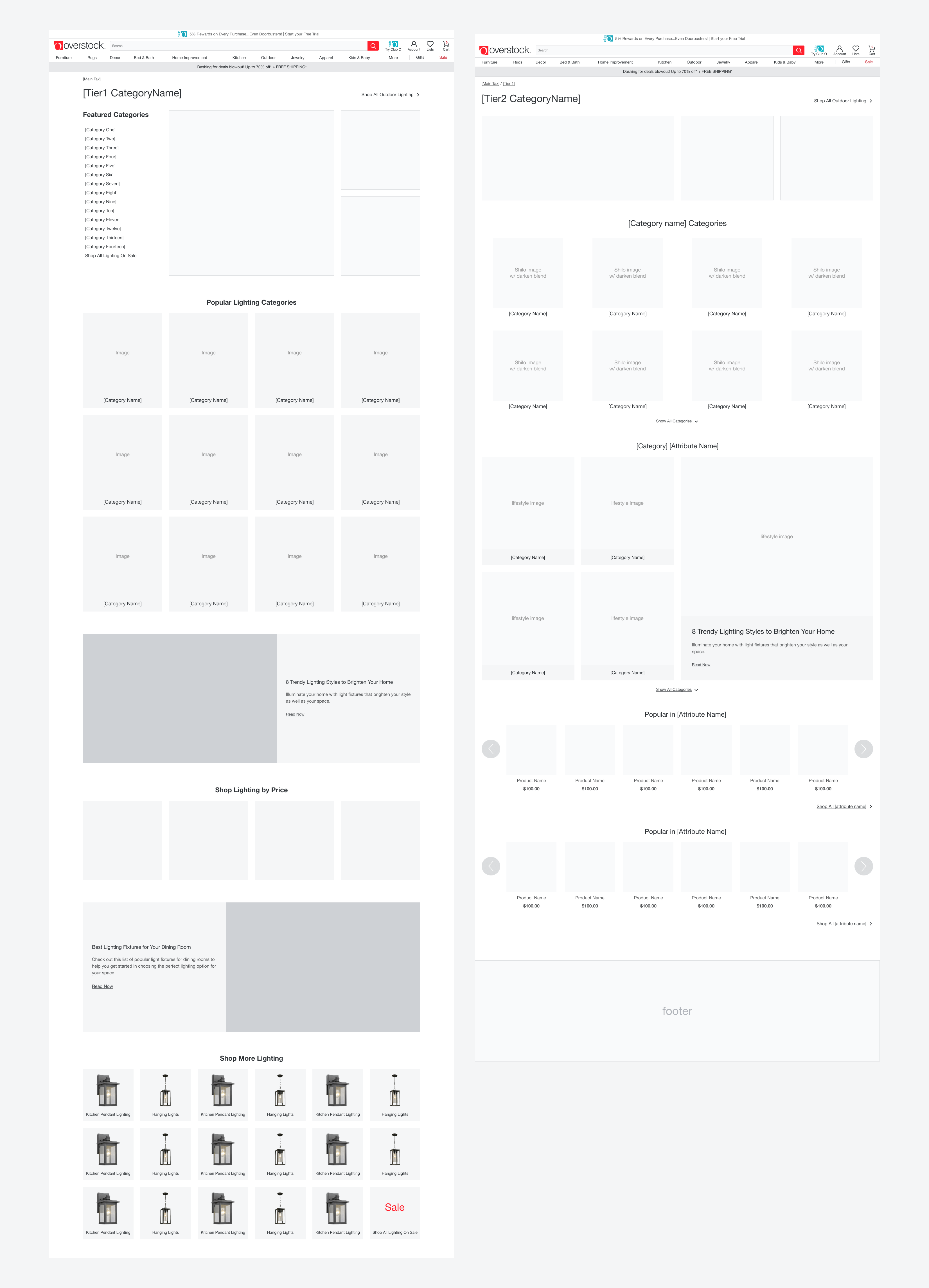 wireframes of guided navigation